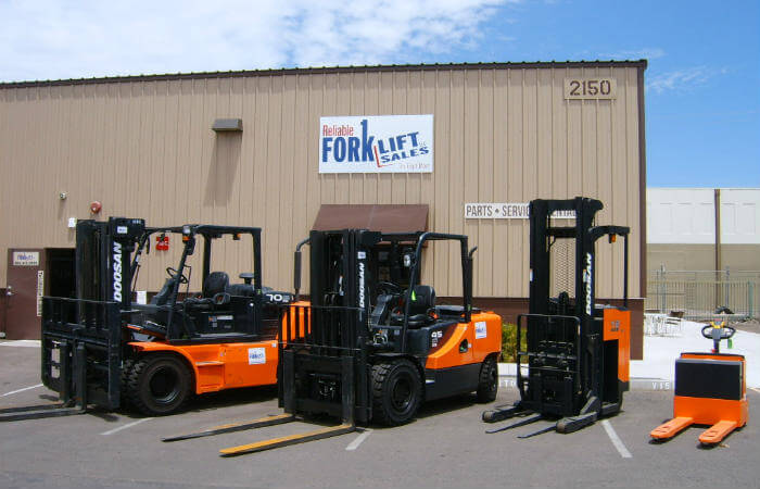 Doosan Rentals at Reliable Forklift Sales