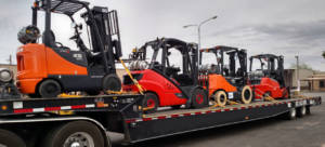 Forklifts on a Truckbed