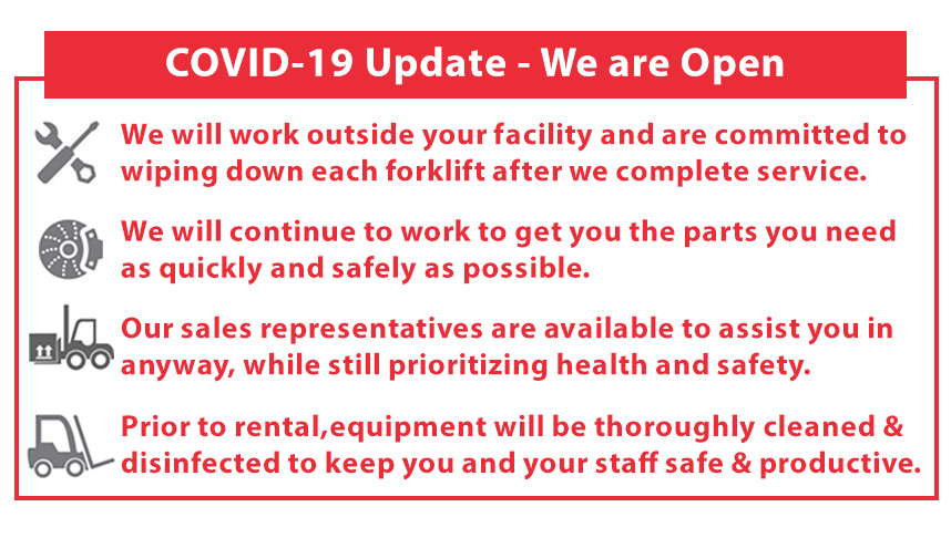 Reliable Forklifts in Phoenix AZ is Open During COVID-19